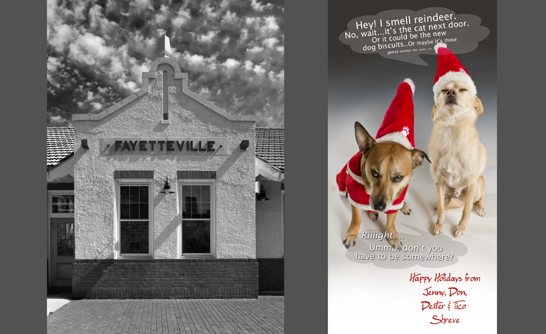 Fayetteville, AR Train Station, Christmas Card
